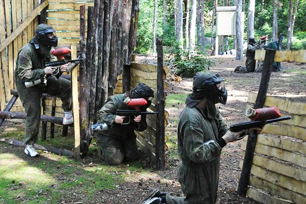 Full Day Paintballing Experience at Bedlam for Two Adults and Two Children