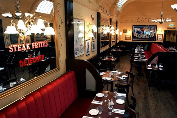Three Course Meal and Sparkling Wine for Two at Café Rouge, Bath