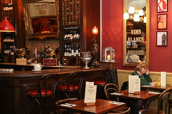 Three Course Meal and Sparkling Wine for Two at Café Rouge, Cheltenham