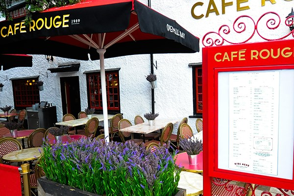 Three Course Meal and Sparkling Wine for Two at Café Rouge, Epsom