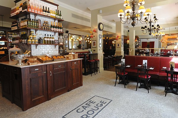 Three Course Meal and Sparkling Wine for Two at Café Rouge, Kingsway