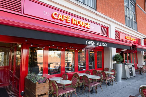 Three Course Meal and Sparkling Wine for Two at Café Rouge, Birmingham Mailbox