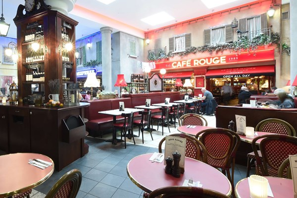 Three Course Meal and Sparkling Wine for Two at Café Rouge, Trafford Centre