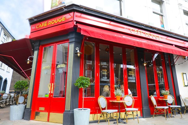 Three Course Meal and Sparkling Wine for Two at Café Rouge, Reigate