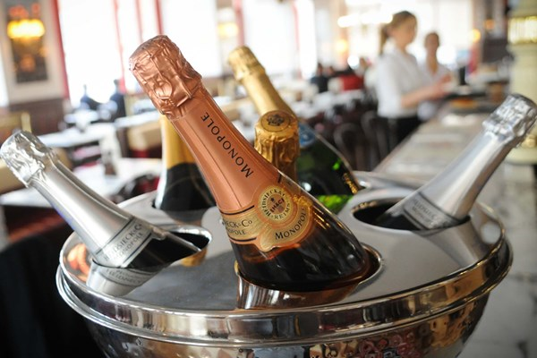 Three Course Meal and Sparkling Wine for Two at Café Rouge, Victoria