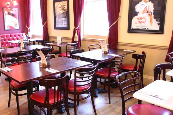 Three Course Meal and Sparkling Wine for Two at Café Rouge, York