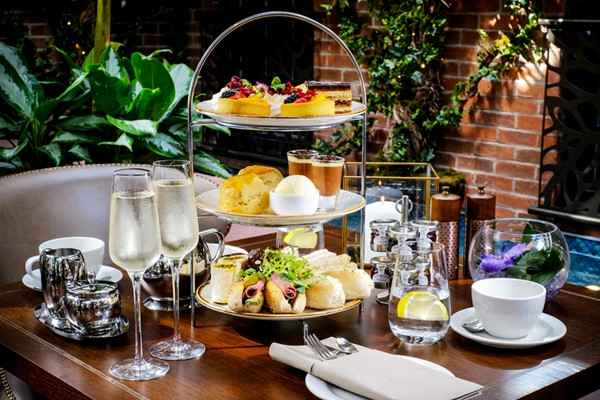 Afternoon Tea and a Glass of Fizz at Grosvenor Pulford Hotel and Spa for Two