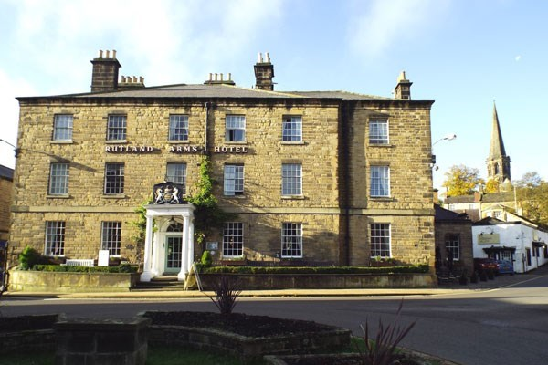 One Night Stay and Dinner at The Rutland Arms Hotel for Two
