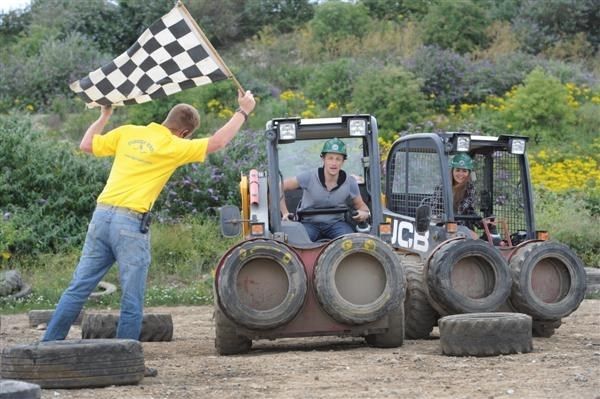 Dumper Racing at for One Diggerland