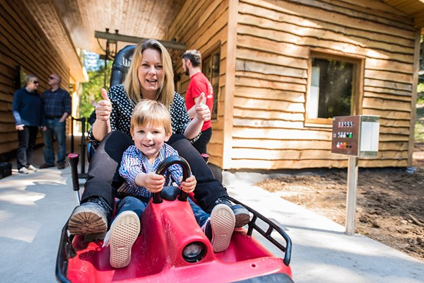 Zip World Fforest Coaster Shared Sled Ride for One Adult and One Child