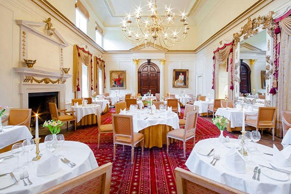 Three Course Meal with Wine for Two at Hintlesham Hall Hotel