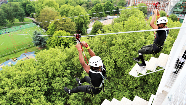 Mega Drop and Zip Wire Ride in London for Two