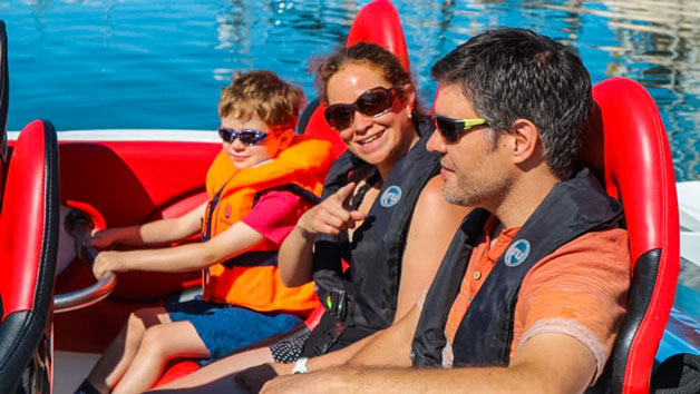 Family Honda Powerboat Adventure in Southampton for Four
