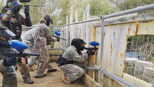 Half Day Paintball Experience and 50 Paintballs Each for Two Adults and Two Children