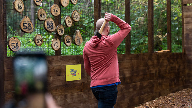 Axe Throwing for Two Adults at Go Ape