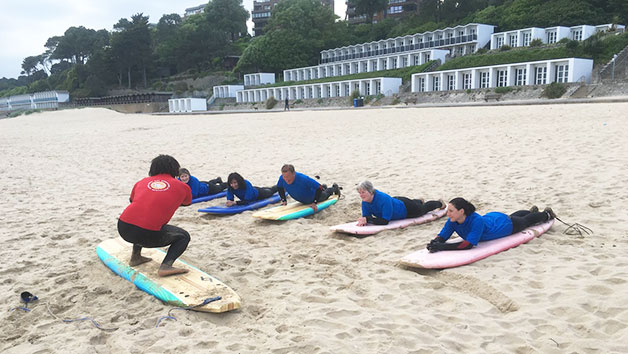 Surfboard or Paddleboard Hire with Tuition for Two at Shaka Surf Branksome