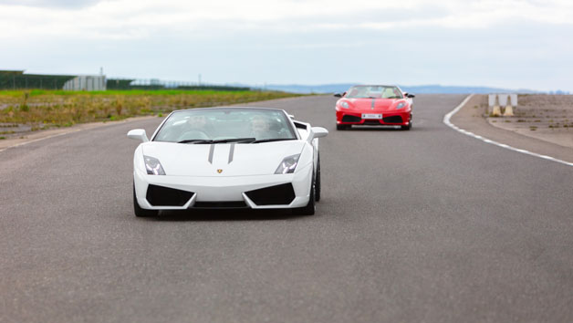 Lamborghini and Ferrari Driving Blast for One