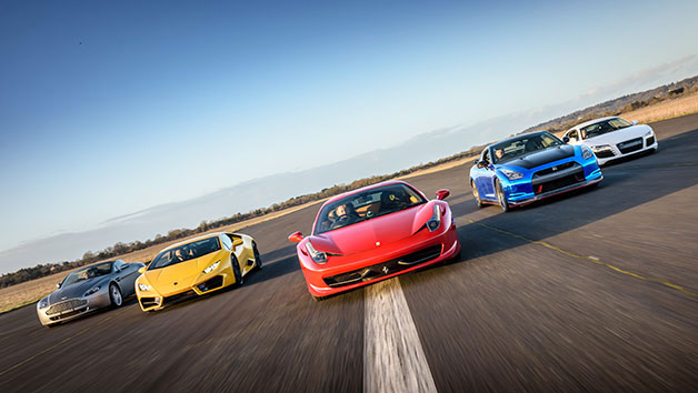 Six Supercar Thrill with High Speed Passenger Ride
