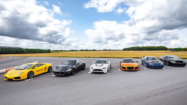 Double Supercar Thrill with High Speed Passenger Ride