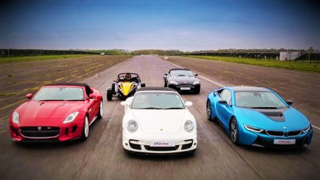 Five Supercar Driving Blast for Juniors and Free High Speed Passenger Ride – Week Round