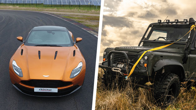 Ultimate James Bond Land Rover Defender and Aston Martin DB11 Driving Experience for One Person