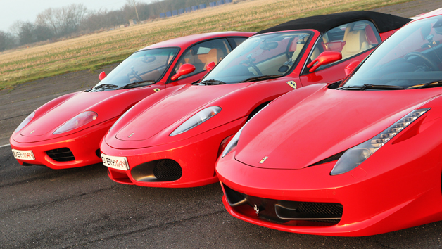 Triple Ferrari Driving Thrill for One and Free High Speed Ride