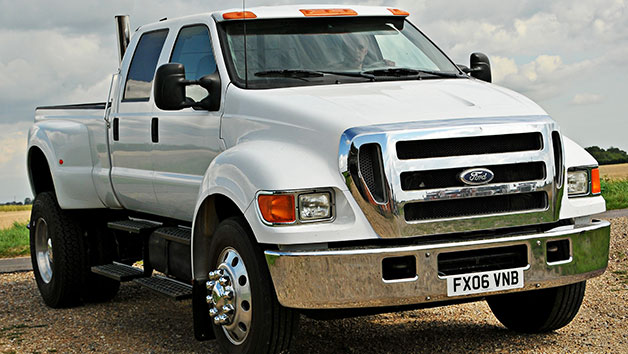 Junior Driver Experience in a Ford F650 for One Lap at Goodwood Motor Circuit