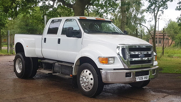 Junior Driver Experience in a Ford F650 for Two Laps at Goodwood Motor Circuit