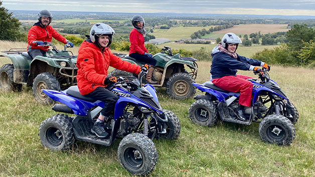 Family Three Hour Quad Bike Adventure for Four People in Kent