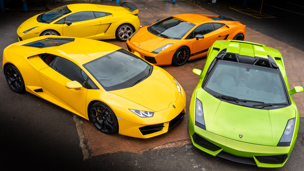 The Ultimate Four Car Lamborghini Driving Experience for One