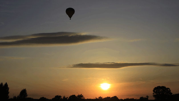 Evening Hot Air Balloon Flight with Champagne for One - South East