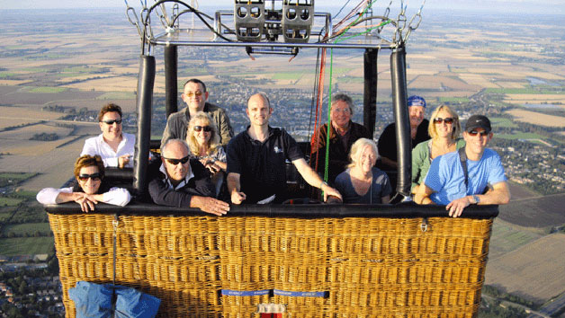 Evening Hot Air Balloon Flight with Champagne for Two - South East