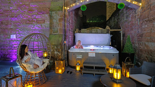 Tranquil Spa Day with 55 Minute Treatment and Prosecco for One at Peckforton Castle