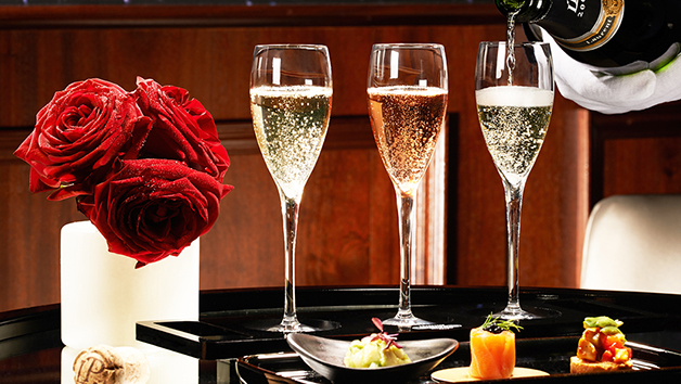 Laurent Perrier Champagne Flight Tasting with Canapes in The Hampton's Bar at Taj 51, London