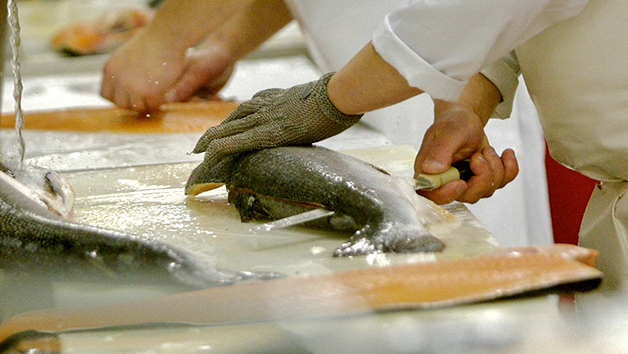 Salmon Carving Masterclass for Two with H. Forman & Son