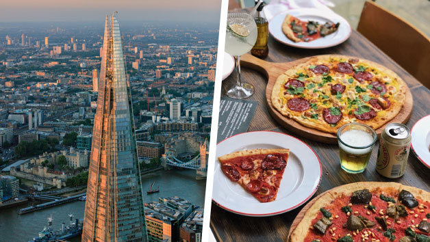 The View from The Shard and Bottomless Pizza for Two at Gordon Ramsay's Street Pizza in St Paul's