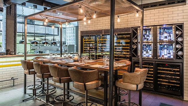 Kitchen Table for Four at  Gordon Ramsay's Heddon Street Kitchen, London