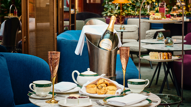 Afternoon Tea with Free Flowing Champagne at The Hansom in 5* St. Pancras Renaissance Hotel for Two