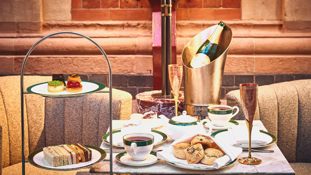 Afternoon Tea with a Bottle of Champagne at The Hansom in 5* St. Pancras Renaissance Hotel for Two