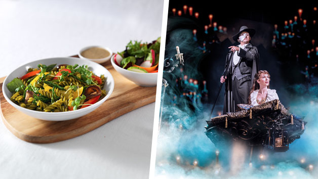 The Phantom of the Opera Theatre Tickets and a Three Course Meal with Wine for Two at Prezzo