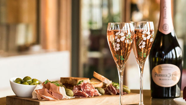 Sharing Platter with a Glass of Champagne for Two at Harrods Perrier-Jouet Champagne Terrace