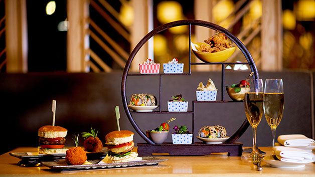 Japanese Afternoon Tea for Two with a Glass of Champagne at Ginza St James