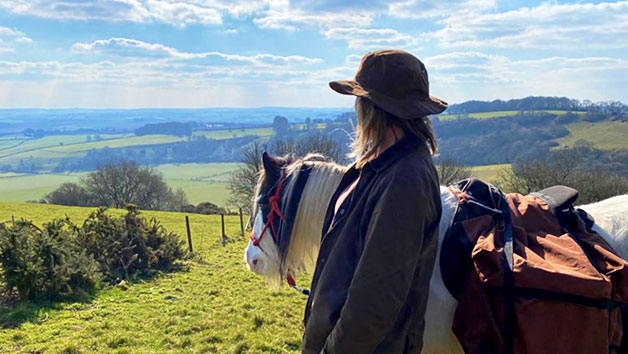 Overnight Glamping Break and Pony Walk with The Ancient Trails Company for Two