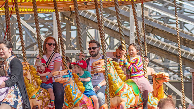 Dreamland Margate Entry and Unlimited Rides for Two Adults and Two Children