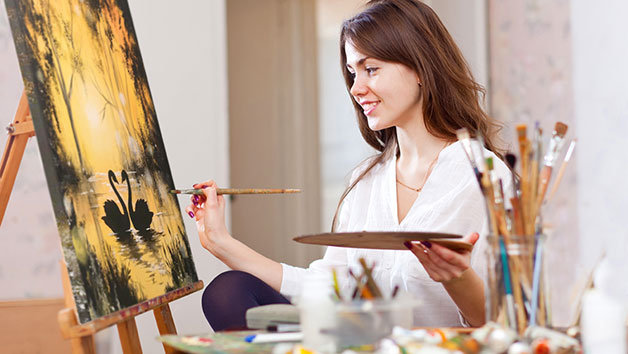 Painting Class Online with Brush Party