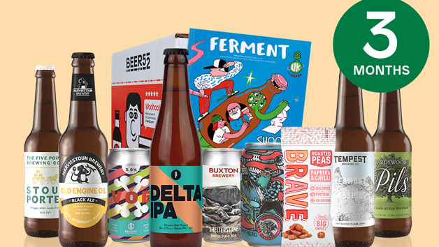 Beer52 Three Month Eight Pack of Beer Subscription for One