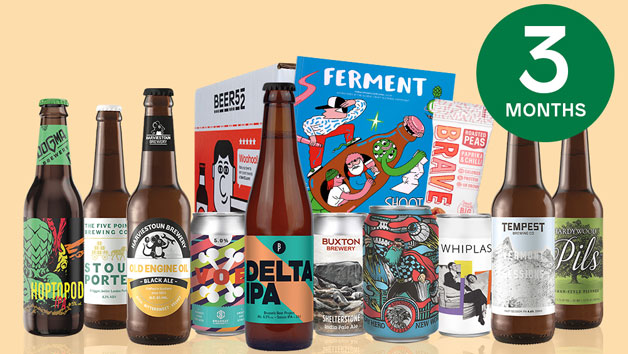 Beer52 Three Month Ten Pack of Beer Subscription for One