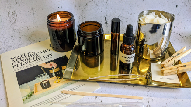 Luxury Aromatherapy Candle, Perfume and Body Oil Making Kit for One