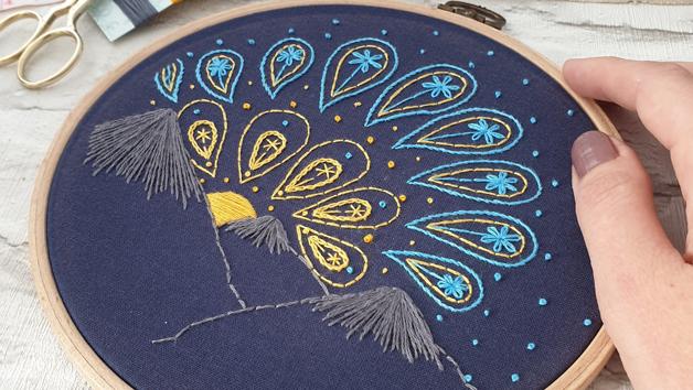 Set of Three Paisley Skies Embroidery Kits