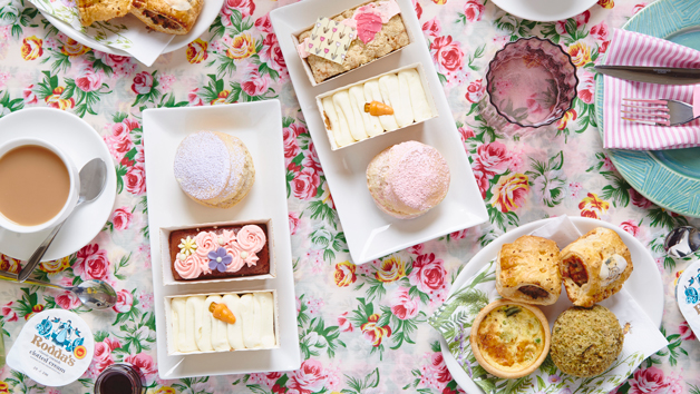 Springtime Vegetarian Afternoon Tea for Two from Piglet's Pantry